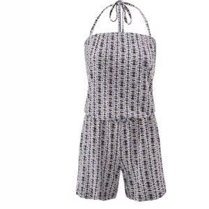 Cabi Medium Romper Shorts 2016 Blue White